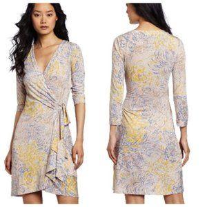 BCBGMaxAzria Alberta Golden Canary Wrap Dress